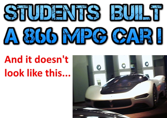 Students Built a 866 MPG Car